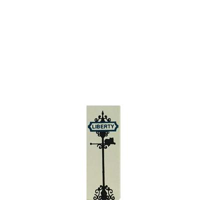 """Vintage Liberty Street Sign from Accessories handcrafted from 3/4"""" thick wood by The Cat's Meow Village in the USA"""