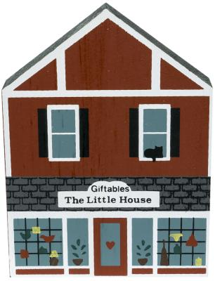 """Vintage The Little House Giftables from Series IV handcrafted from 3/4"""" thick wood by The Cat's Meow Village in the USA"""