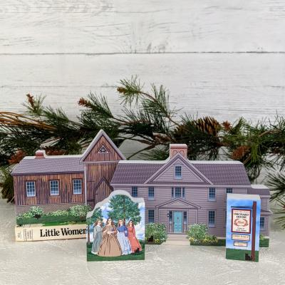 Lousia May Alcott's Orchard House + additional pieces included in the limited edition set.
