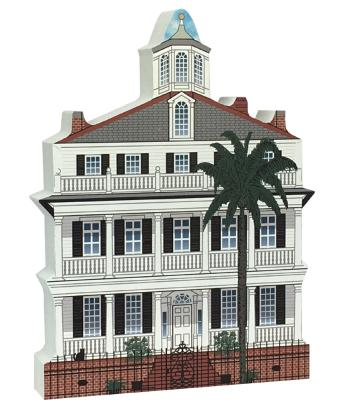 Wooden replica of the Colonel John Ashe House in Charleston, SC just waiting to be added to your home decor. Remember your visit to Charleston, SC with our handcrafted in the USA wooden keepsake.