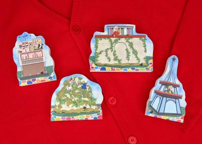 """4 pc sequel set of Mister Rogers' Make-Believe Neighborhood handcrafted in 3/4"""" thick wood by The Cat's Meow Village in the USA."""
