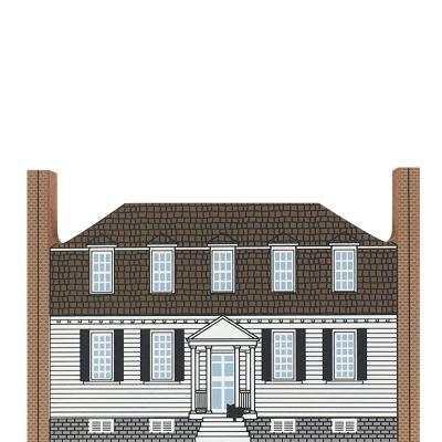 "Vintage Moore House from Series XVII, Revolutionary War Series handcrafted from 3/4"" thick wood by The Cat's Meow Village in the USA"