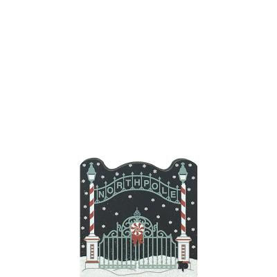 """North Pole Entrance from Vintage North Pole handcrafted from 3/4"""" thick wood by The Cat's Meow Village in the USA"""