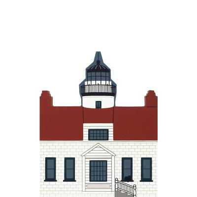 "Vintage Point Pinos Light from West Coast Lighthouse Series handcrafted from 3/4"" thick wood by The Cat's Meow Village in the USA"