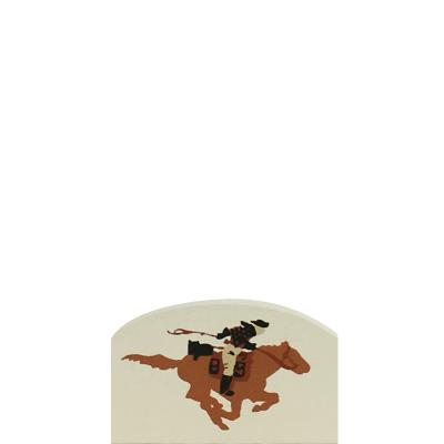 "Vintage Pony Express Rider from Accessories handcrafted from 1/2"" thick wood by The Cat's Meow Village in the USA"
