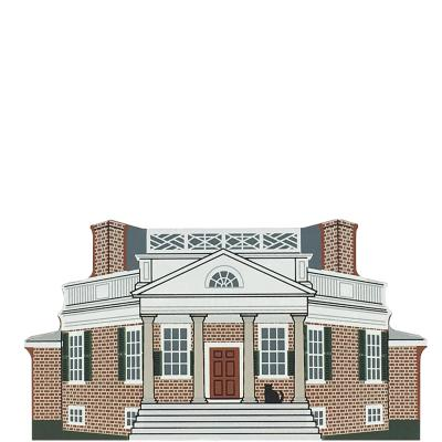 "Vintage Poplar Forest from Virginia Dynasty Series handcrafted from 3/4"" thick wood by The Cat's Meow Village in the USA"