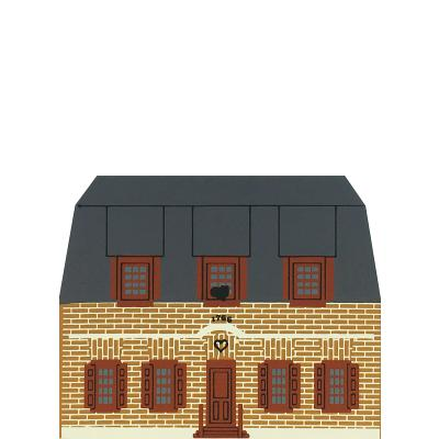 """Vintage Pruyn House from Series VI handcrafted from 3/4"""" thick wood by The Cat's Meow Village in the USA"""