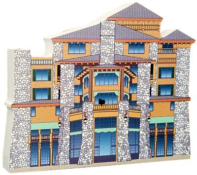 "Get your paws on this replica of the Majestic Yosemite Hotel, in Yosemite National Park, California! Handcrafted of 3/4"" thick wood by The Cat's Meow Village. Made in the USA."