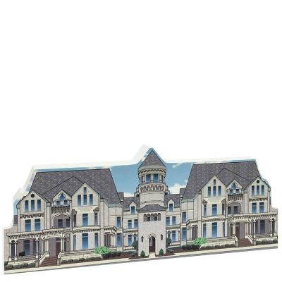 "Front replica of the Ohio State Reformatory used in The Shawshank Redemption movie. Handcrafted of 3/4"" thick wood by The Cat's Meow Village in our Wooster, Ohio workshop."