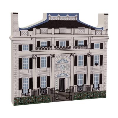 """Linden Place Historic Museum, Rhode Island. Handcrafted in the USA 3/4"""" thick wood by Cat's Meow Village."""