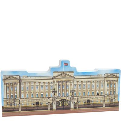 """Replica of Buckingham Palace created with inspiration from the Downton Abbey movie. Handcrafted of 3/4"""" thick wood by The Cat's Meow Village in Wooster, Ohio."""