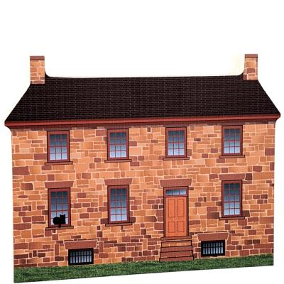 "Stone House, Manassas Nat'l Battlefield Park, VA. Handcrafted in the USA 3/4"" thick wood by Cat's Meow Village."