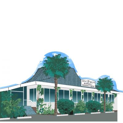 "Doc Ford Restaurant ,Sanibel Island, Florida. Handcrafted in the USA 3/4"" thick wood by Cat's Meow Village."