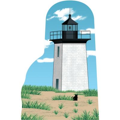 """Wood End Lighthouse, Cape Cod, Massachusetts. Handcrafted in the USA 3/4"""" thick wood by Cat's Meow Village."""