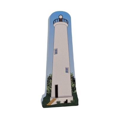 """Egmont Key Lighthouse, Florida State Park. Handcrafted in the USA 3/4"""" thick wood by Cat's Meow Village."""