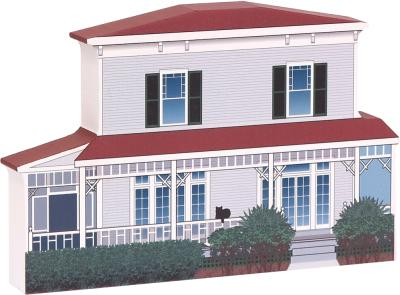 Seminole Lodge, Winter Home of Thomas A. Edison, Fort Myers, Florida handcrafted in wood by The Cat's Meow Village