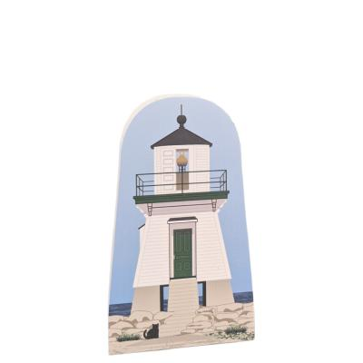 Port Clinton Lighthouse, Port Clinton, Ohio.  Handcrafted by Cat's Meow Village in Wooster, Ohio, USA.