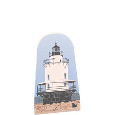 Spring Point Lighthouse, South Portland, Maine.  Handcrafted in the USA by Cat's Meow Village.