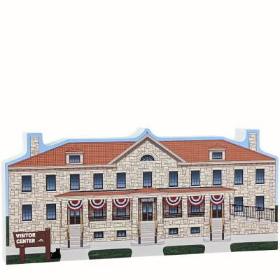 Albright Visitor Center, Yellowstone National Park, Wyoming. Handcrafted by The Cat's Meow Village in the USA.