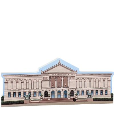 "Art Institute of Chicago, Chicago, Illinois. Handcrafted in the USA 3/4"" thick wood by Cat's Meow Village."