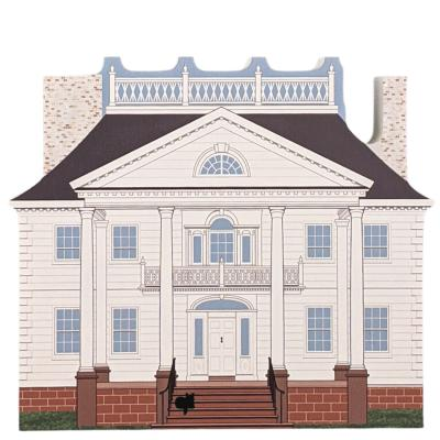 """Lovely detailed replica of the Morris Jumel Mansion, New York, New York. Handcrafted in the USA 3/4"""" thick wood by Cat's Meow Village."""