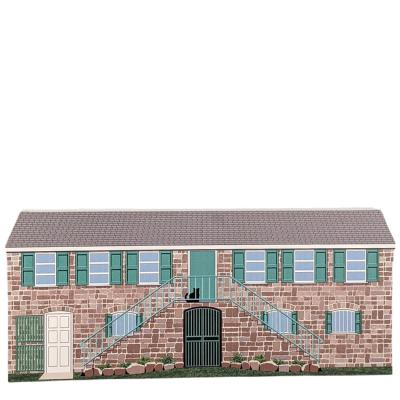Replica of the Alexander Hamilton Museum, Charlestown, Nevis, West Indies.  Handcrafted in the USA by Cat's Meow Village.