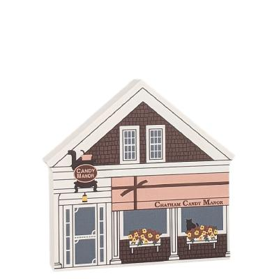 Yummy! Come visit the Chatham Candy Manor, Chatham, Cape Cod, Massachusetts.  Handcrafted in the USA by Cat's Meow Village.