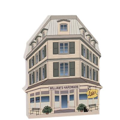 "Luke's Diner, Stars Hollow, Gilmore Girls. Handcrafted in the USA 3/4"" thick wood by Cat's Meow Village."