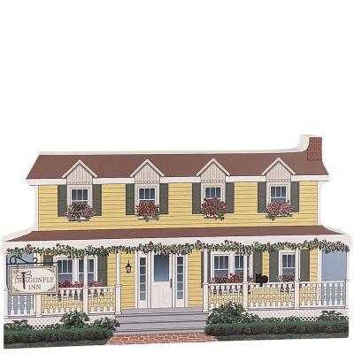 "Dragonfly Inn, Stars Hollow, Gilmore Girls. Handcrafted in the USA 3/4"" thick wood by Cat's Meow Village."
