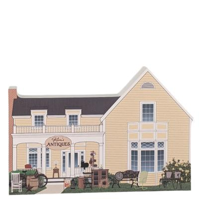 """Kim's Antiques, Stars Hollow, Gilmore Girls. Handcrafted in the USA 3/4"""" thick wood by Cat's Meow Village."""