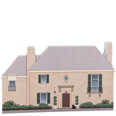 """Richard & Emily Gilmore's House, Stars Hollow, Gilmore Girls. Handcrafted in the USA 3/4"""" thick wood by Cat's Meow Village."""