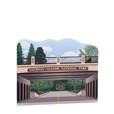 Western Gateway, Glacier National Park, Montana.  Handcrafted by Cat's Meow Village in the USA.