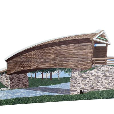 """Humpback Covered Bridge, Virginia. Handcrafted in the USA 3/4"""" thick wood by Cat's Meow Village."""