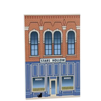 Stars Hollow Books, Stars Hollow, Gilmore Girls. Handcrafted in the USA by Cat's Meow Village.