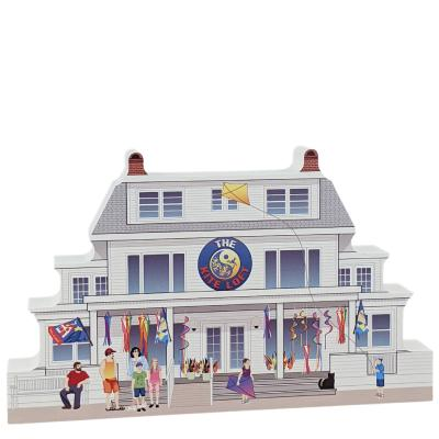 """The Kite Loft, Ocean City, Maryland. Handcrafted in the USA 3/4"""" thick wood by Cat's Meow Village."""