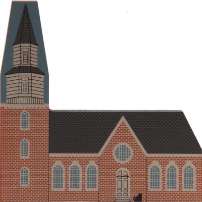 Cat's Meow handcrafted wooden replica of Bruton Parish Church in Williamsburg, VA