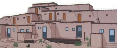 Cat's Meow replica of a pueblo from southwestern USA