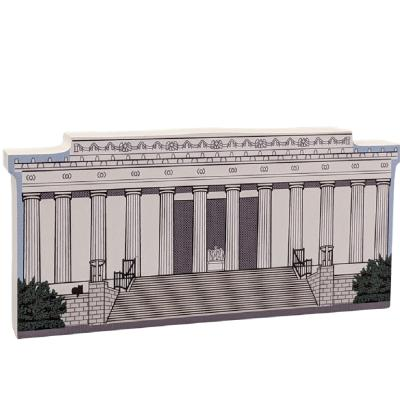 "Lincoln Memorial, Natl Mall & Memorial Parks, Washington DC, Lincoln, Gettysburg Address. Handcrafted in the USA 3/4"" thick wood by Cat's Meow Village."