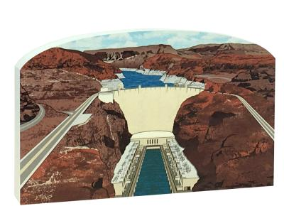 Wooden replica of Hoover Dam on the Colorado River. Add to your home decor to remember your trip to the Dam. Handcrafted in the USA by The Cat's Meow Village.
