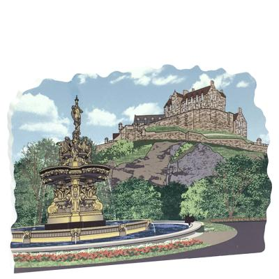 "Remember your trip to Edinburgh Castle with this 3/4"" thick wooden replica you can place on your bookshelf, desk, windowsill, shelf or ledge above your doorway. Handcrafted in the USA by The Cat's Meow Village."