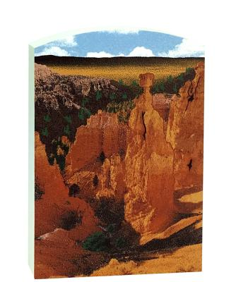 """Add this 3/4"""" thick wooden replica of Thor's Hammer in Bryce Canyon, UT to your home decor. Handcrafted in the USA by The Cat's Meow Village."""