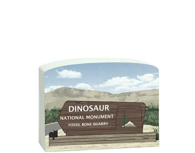 "Crafted from 3/4"" thick wood, this Dinosaur National Monument park sign keepsake will remind you of that special trip you took. Made in the USA by The Cat's Meow Village."