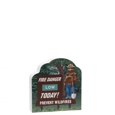 """Smokey Bear w/ Fire Danger Today! Sign.  Handcrafted by Cat's Meow Village in Wooster, Ohio in 3/4"""" wood."""