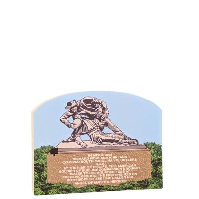 """Kirkland Monument,  Fredericksburg, VA.   Handcrafted in the USA 3/4"""" thick wood by Cat's Meow Village."""