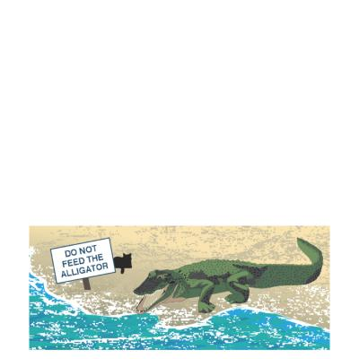 "Do Not Feed the American Alligator, Florida. Handcrafted in the USA 3/4"" thick wood by Cat's Meow Village."