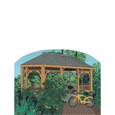 Wooden replica of the famous Sanibel Island Hut. Handcrafted in the US by The Cat's Meow Village.