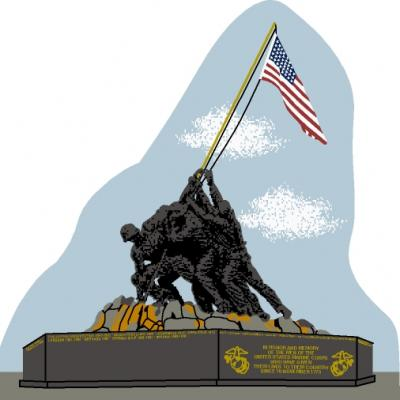 USMC War Memorialin the District Of Columbia, Iwo Jima, World War II, raising the flag on Iwo Jima
