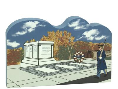 Keepsake of the Tomb of the Unknown Soldier handcrafted in wood by The Cat's Meow Village