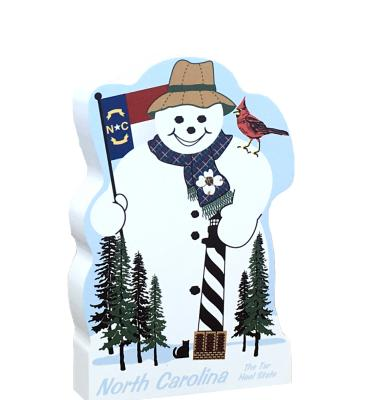 North Carolina State Snowman handcrafted and made in the USA.
