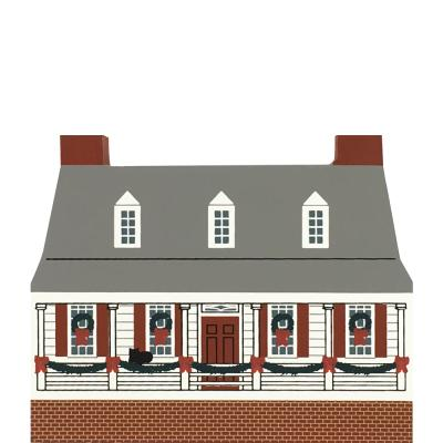"""Vintage Rising Sun Tavern from Colonial Virginia Christmas Series handcrafted from 3/4"""" thick wood by The Cat's Meow Village in the USA"""